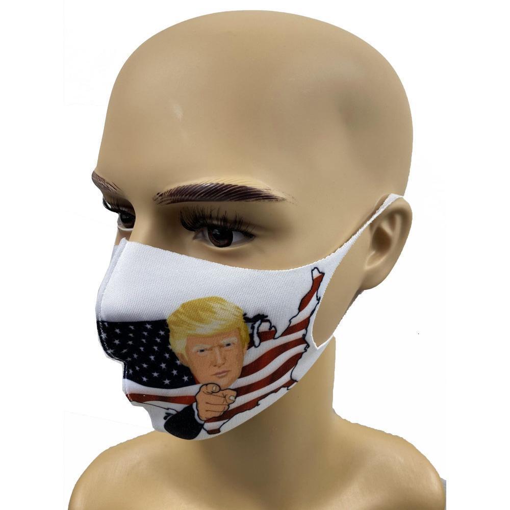 Anti-poussière visage adulte Trump élection américaine Masques de glace soie coton réutilisable Lavable bouche moufles 8 Iycfw