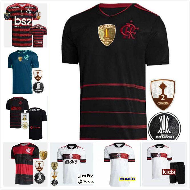 2020 brasileño Flamengo mujeres jersey de fútbol kit niños camisetas de GABRIEL Barbosa de Arrascaeta GERSON B.HENRIQUE Camisa Flamengo 20/21
