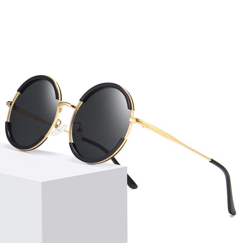 Luxury Design Women Sunglasses Polarized Glasses Retro Sunglasses Round Frame Lens Eyewear Coating Driving Elegant Sun Female Uvsix