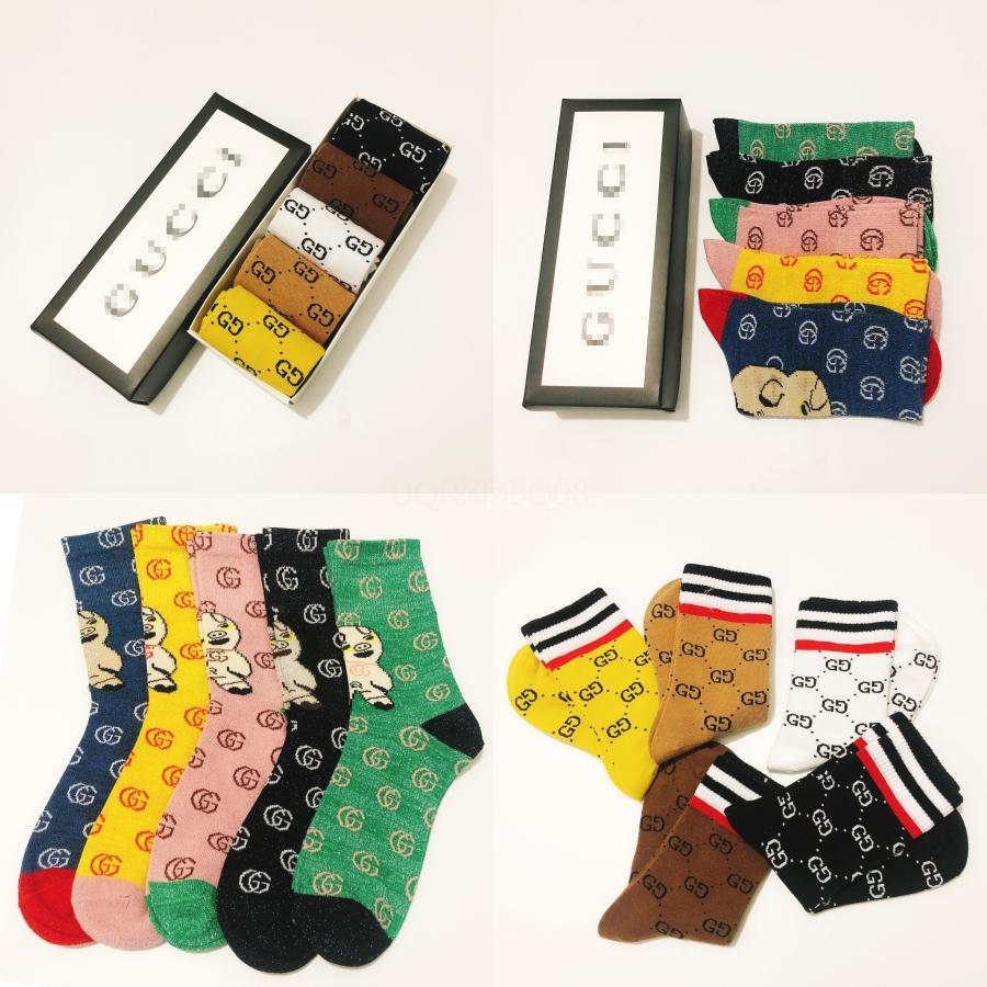 Diseñador de calcetines para hombre de la moda temporada 6 CALABASAS monopatín letra impresa calcetines deportivos calcetines de Sockings KANYE Hip Hop Cny1570 # 334
