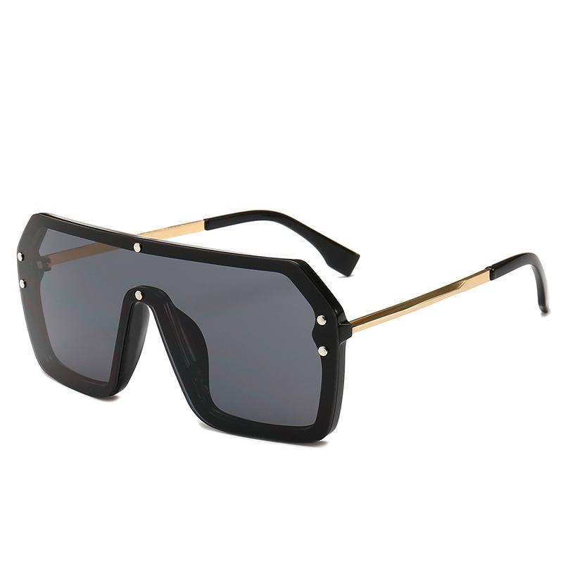 Piece Мужчины негабаритные черные квадратные солнцезащитные очки солнцезащитные серебряные рамки горячие одно объектив большие 2020 красные очки новые женщины UV400 для зеркала NX VMHIV
