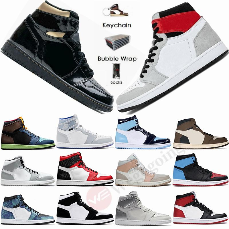 Bio Hack Nike Air Jordan Retro 1 High Travis Scotts 1s Scarpe Low Parigi pallacanestro del Mens Twist UNC Zoom Racer Blu media Milano Obsidian Fearless donne Stylist Sport Sneakers