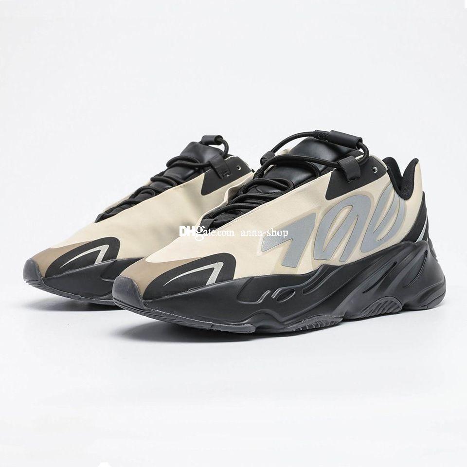 Kanye West 700S Aumenta MNVN Bone scarpa da tennis per Scarpe Sneakers kanyewest Mens 3M di sport degli uomini delle donne di fosforo addestratori correnti A1 scarpe da donna