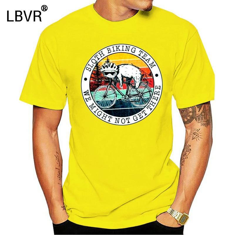 La pereza Bicicleta Equipo podríamos no llegar los hombres de la vendimia de la camiseta de algodón S-3XL Tops Tee T Shirt