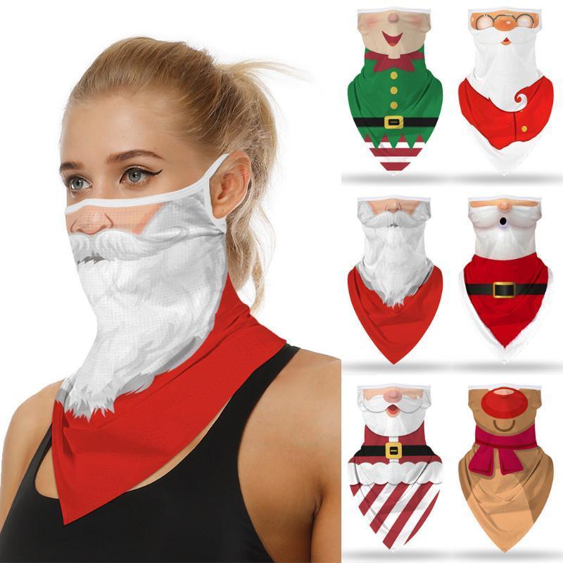 25 # 1PC Рождество печати Бесшовного Уха маски спортивного шарф горловина Face Mask езда Висячей уха крышка шарф Мужчины Женщина Бандан