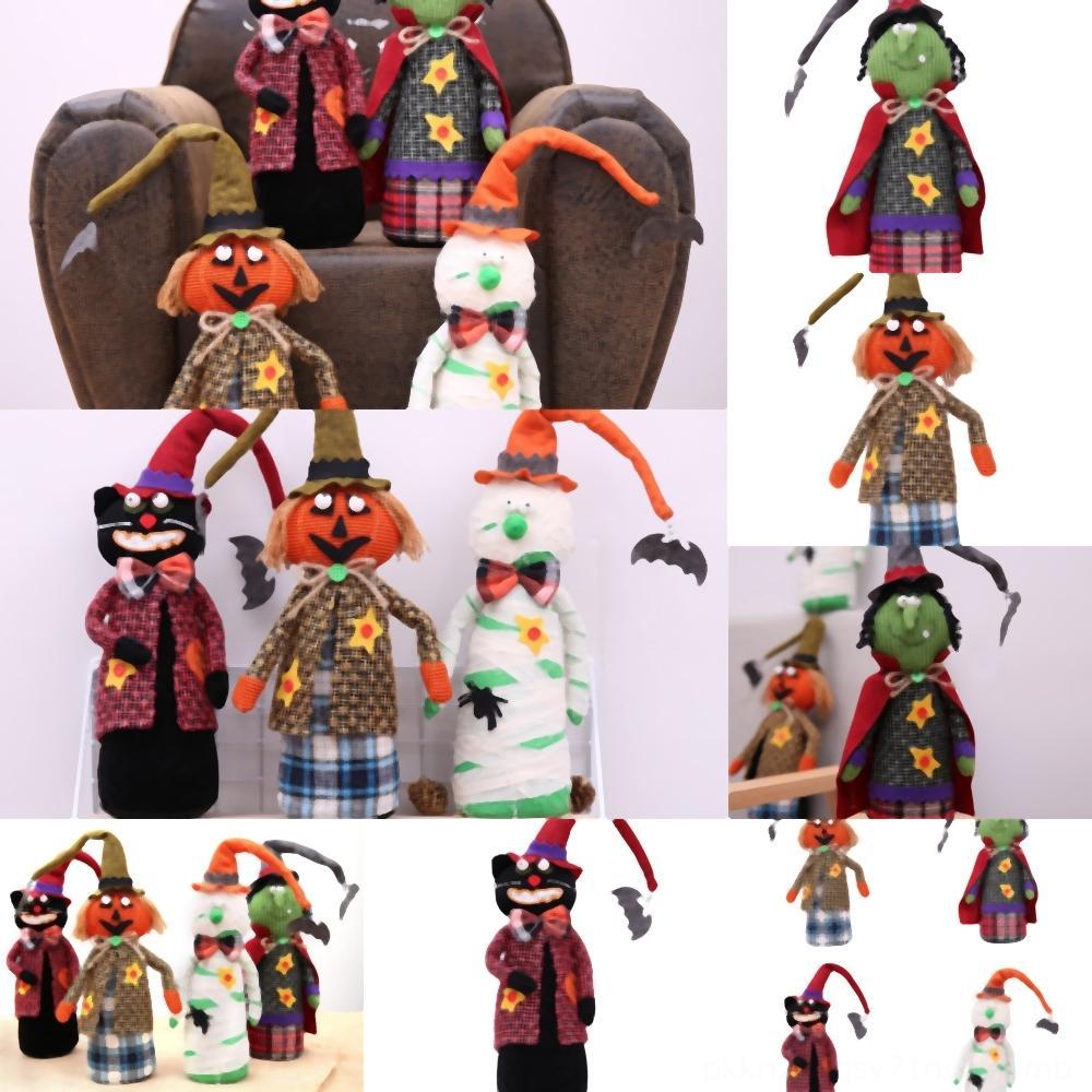 Qoc96 fournitures de citrouille Décoration Fournitures Décoration Fournitures Sorcière Masquerade Scène de création en robe poupée jouet marché bateau maison scène jusqu'à pu