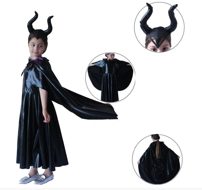 Halloween Costume Maleficent The Dark Witch cosplay costume Stage Performance cosplay costumes kids costume party cosplay adorn prop