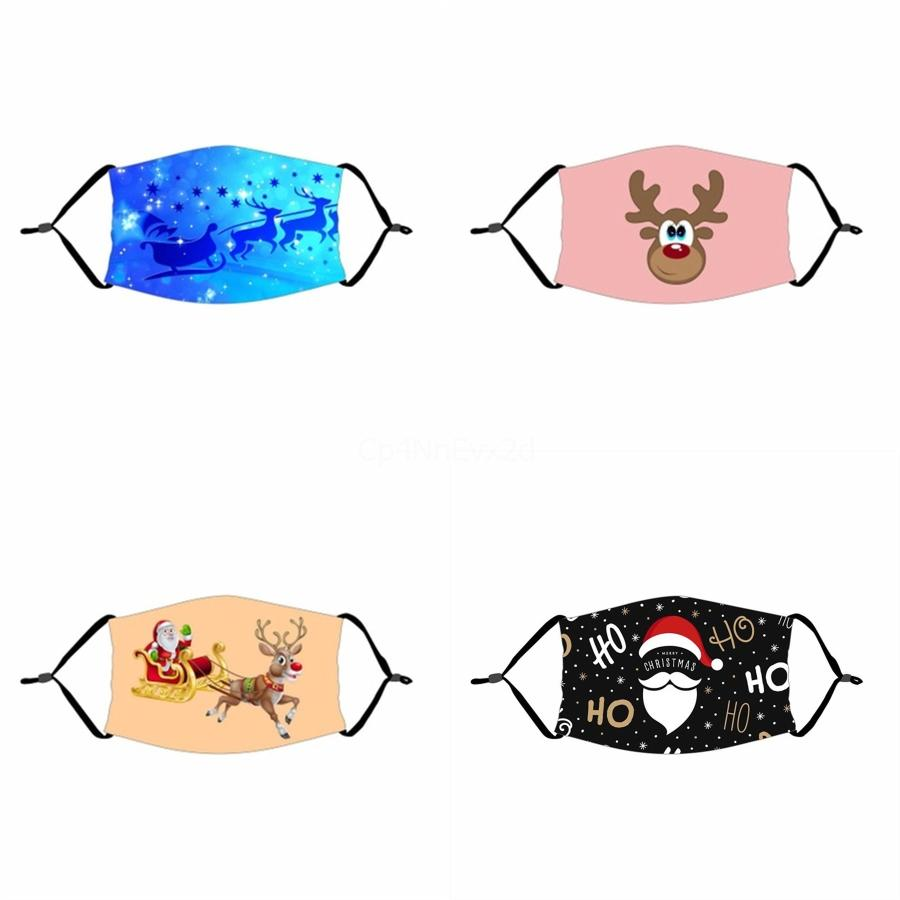 Washable Unisex Adult Mouth Face Masks Mask Clear Window Visible Deaf Printed Mute Windproof Dustproof Reusable#834 With Wwbrt