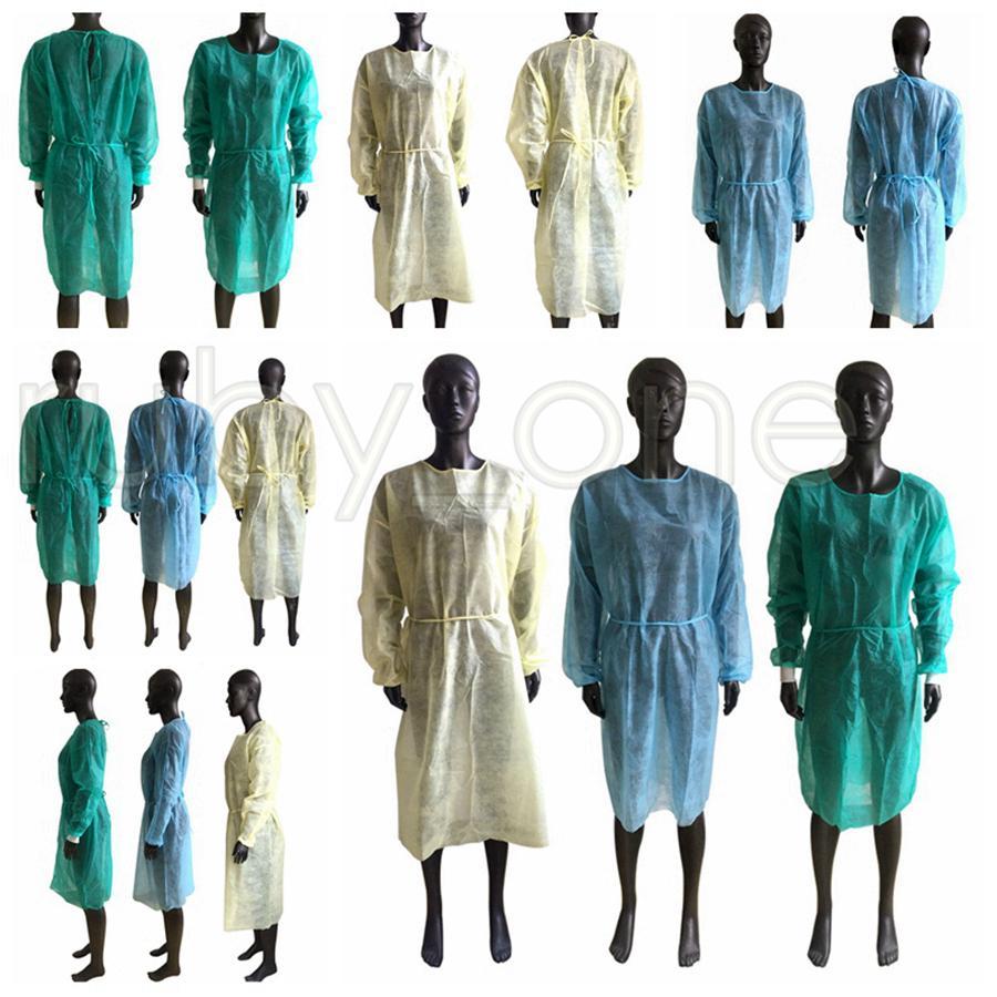 Não-tecidos de protecção Roupa descartável Isolamento Vestidos Vestuário Ternos Anti Poeira Outdoor Vestuário de protecção descartáveis Raincoats RRA3534