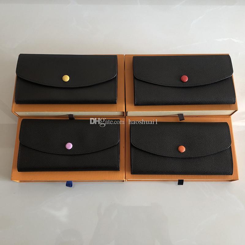 Mew frei Großhandel Rotunterseiten Dame lange Mappe Mehrfarben Designer Geldbörse Kartenhalter original box Frauen klassische Tasche mit Reißverschluss shpping