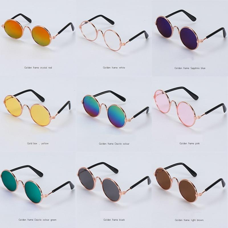 1PC Lovely Pet Cat Glasses Dog Glasses Pet Products Kitty Toy Dog Sunglasses Photos 3 cm Pet Accessoires Round Colorful