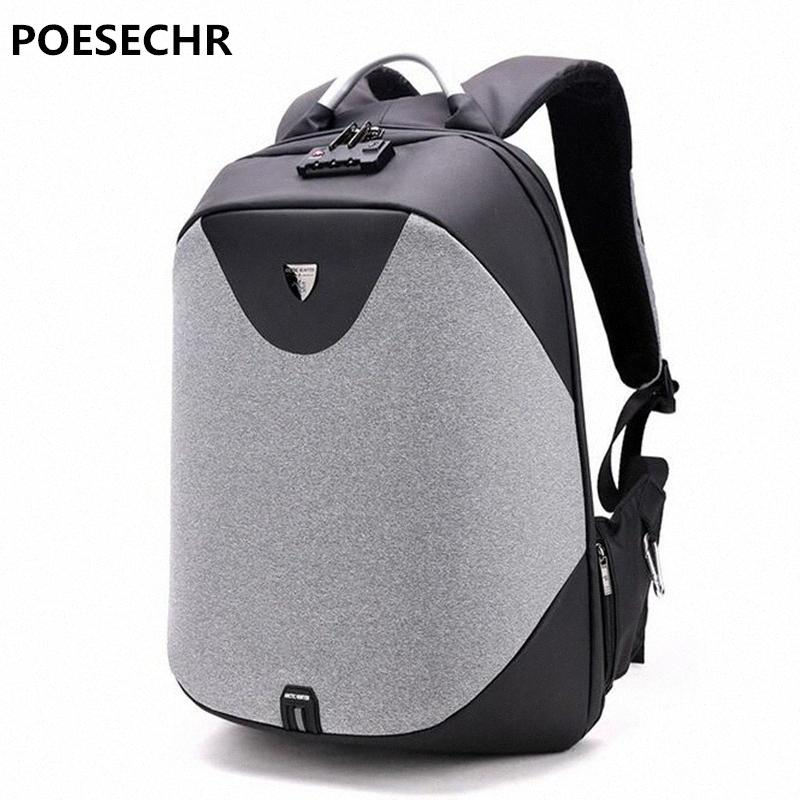 POESECHR 15 Sac à dos pour ordinateur portable de charge externe USB d'ordinateur Sacs à dos Antivol Sacs imperméables pour homme femme Hydratation Sac à dos femmes zoYn #