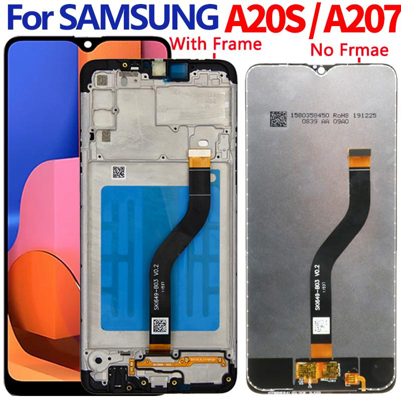 For Samsung A20S LCD screen display A207 A207F A207F/DS A207FN A207W A207G/DS with frame Assembly
