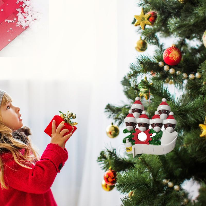 ديكور الحجر الصحي حفلة عيد الميلاد هدية بابا نويل مع الوجه قناع تم تخصيصها شنقا زخرفة الأسرة تزيين كيت