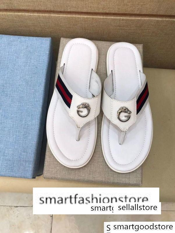 2019 HOTSALEFASHION infradito 207514 Uomini Pantofole Driver Sandali diapositive Sneakers in pelle Slipper