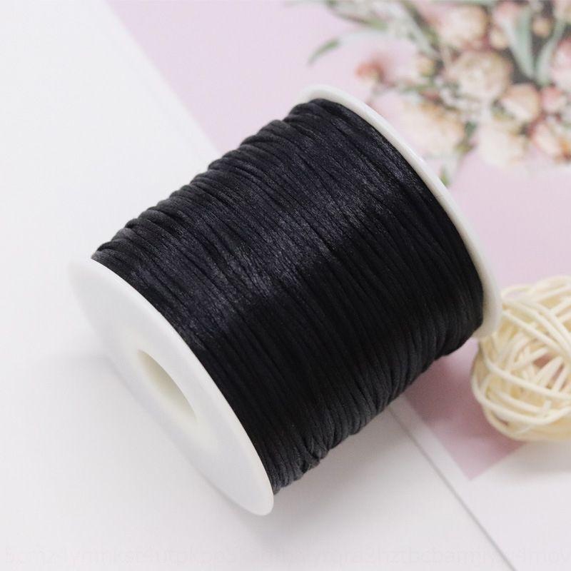 SSgDS coreanos línea jade 7 línea brillante accesorios 56 a mano bricolaje alambre de cuerda trenzada chino hilo de seda Diy nudo chino seda nudo hilo 1,5