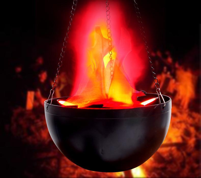 Горячие Продажи электронные Мангал 20 см Небольшой Черуда Лампа Бар Хэллоуин Украшения Лампы Пламя Лампы Bonfire Party Chanselier