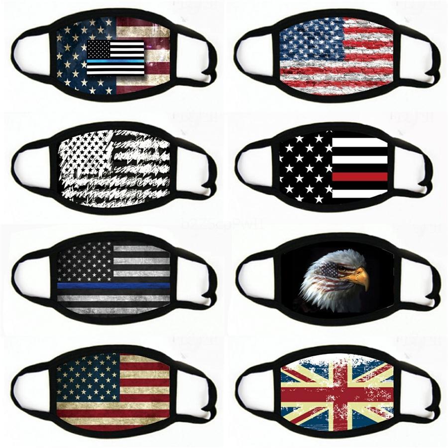 1Mask 2020 US-amerikanische Wahlen Staubdichtes Schutzmasken US-Flagge Maske # 476