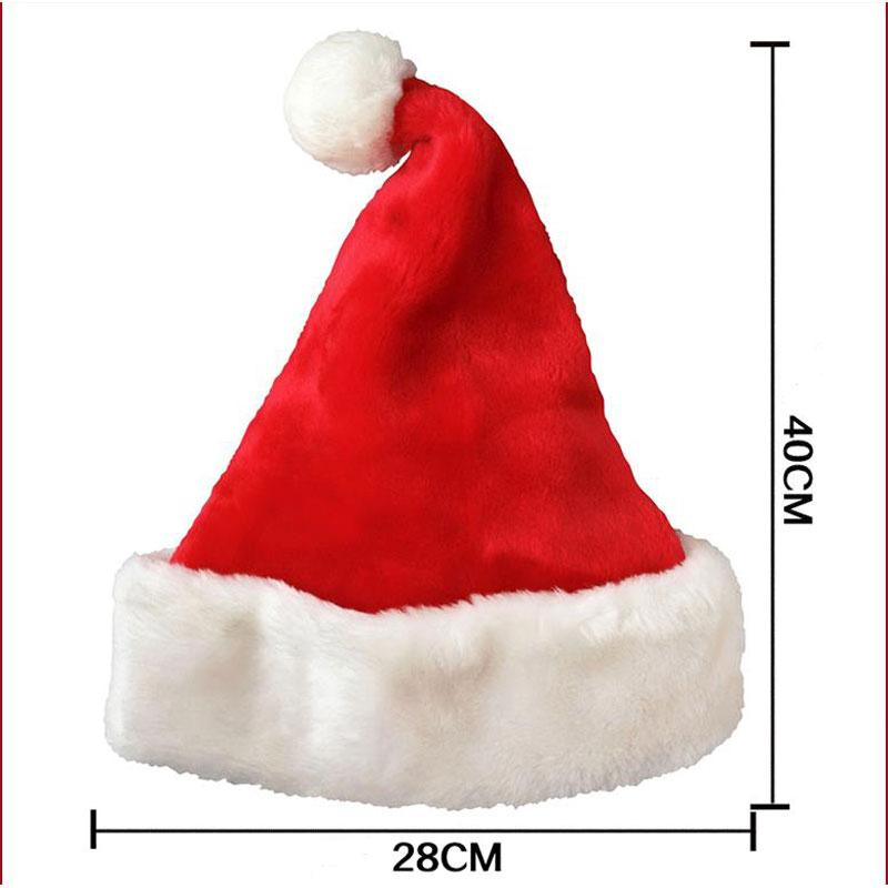 New Year Thicken Plush Christmas Hat Adult Christmas Ornament Home Santa Gift Winter Warm Hat Hot Sale