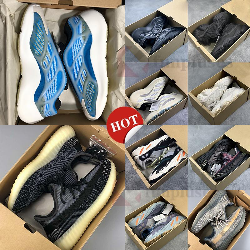 New Kanye West V3 Azael Alvah Arzareth 700 Static Magnet Running Shoes 500 Black Bone Carbon Asriel Mens Sneakers With Box Women Trainers