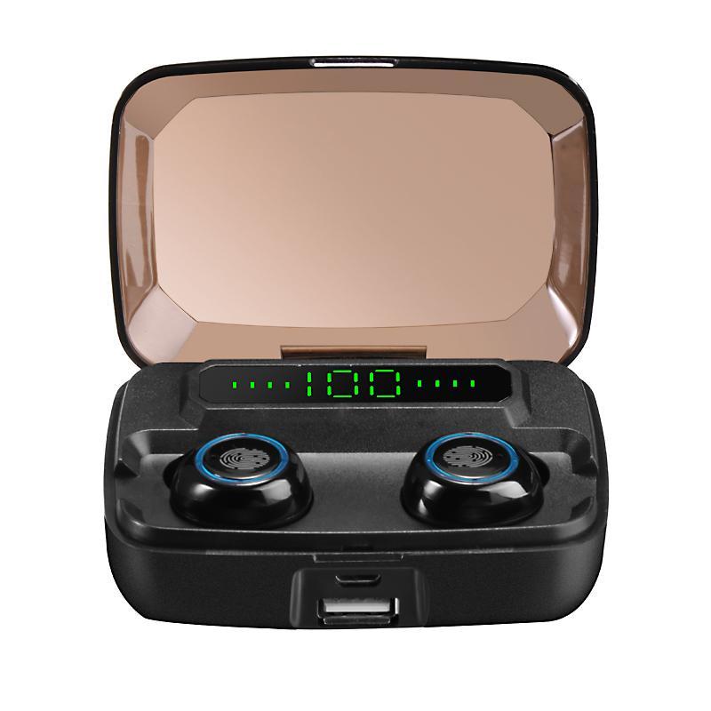 M11 TWS بلوتوث اللاسلكية سماعات V5.0 IPX7 ماء الأذن قوة البنك 3600MAH مع شاشة LED الرقمية بكلتا الأذنين HD نداء لمدة 12 فون