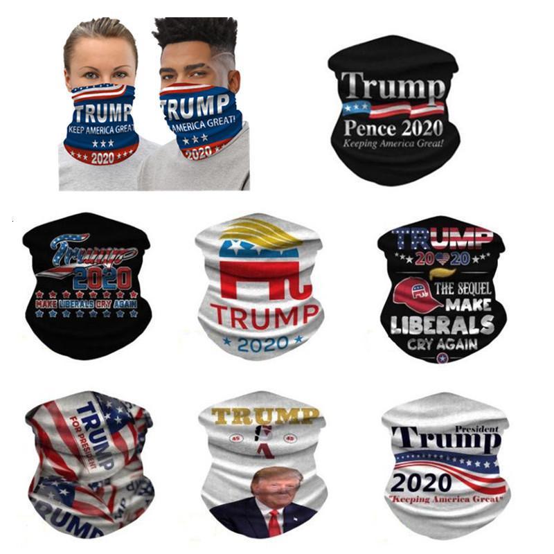 2020 DHL Trump Bandana Visage Bouclier Biden transparente magique Écharpe Keep America Great Bandeaux vélo Couvre-chef du cou pour Party Mask