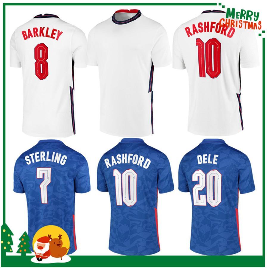 2020 Dele Alli Soccer Jerseys Kane Rashford Vardy Barkley Sterling Sterling Surling Sancho Jersey 2021 Hommes adultes + Chemise de football pour enfants