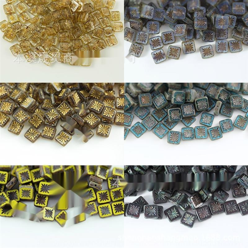 VIi1k Tchèque 10 10mm Accessoires couleur couper matériau en verre antique tchèque 10 10mm Diy beadsAccessories beadscolor coupé les perles de verre antique bricolage b