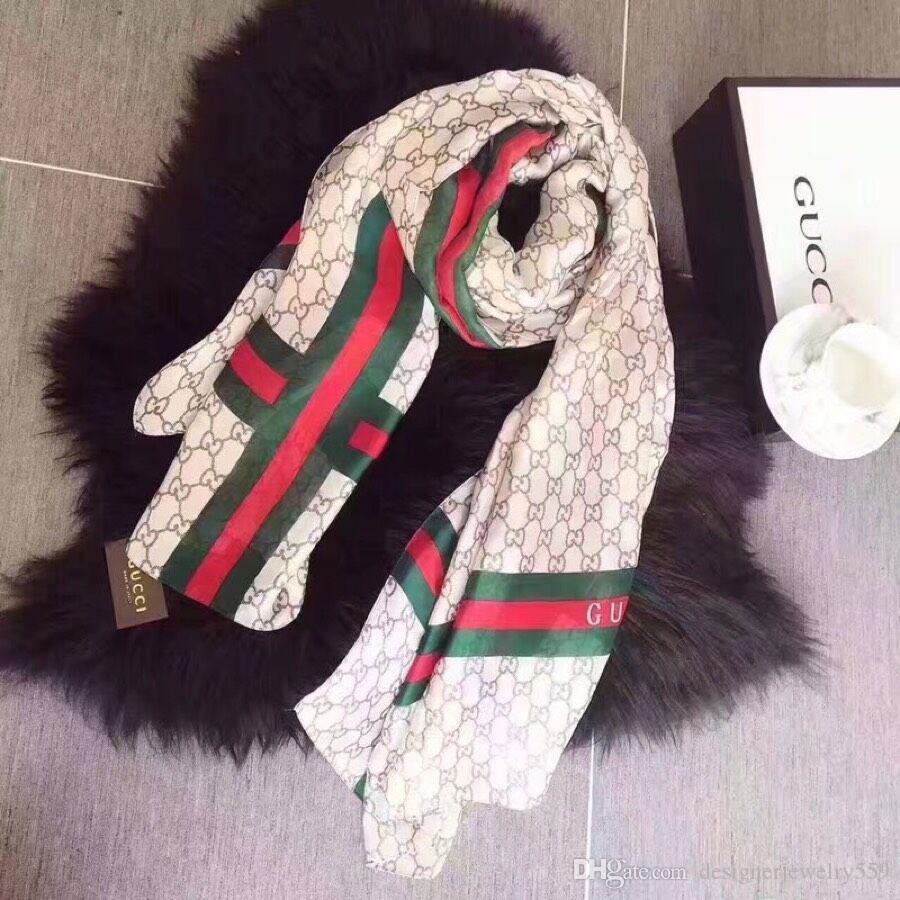 Hot Designers Lenço de seda Pashmina para mulheres e homens Marca completa lenços Mulheres Moda imitar seda com xale wrap 180x90cm de1 frete grátis