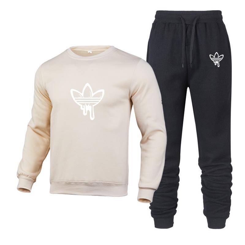 Hot Autumn corrida terno 2020 nova tendência da moda esporte quente por Homens Sportswear Imprimir Hoodies pulôver set agasalho com capuz