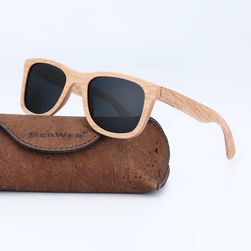 BerWer Nouveau 100% bois véritable lunettes polarisantes main bambou Hommes Sunglass Des lunettes de soleil hommes Gafas