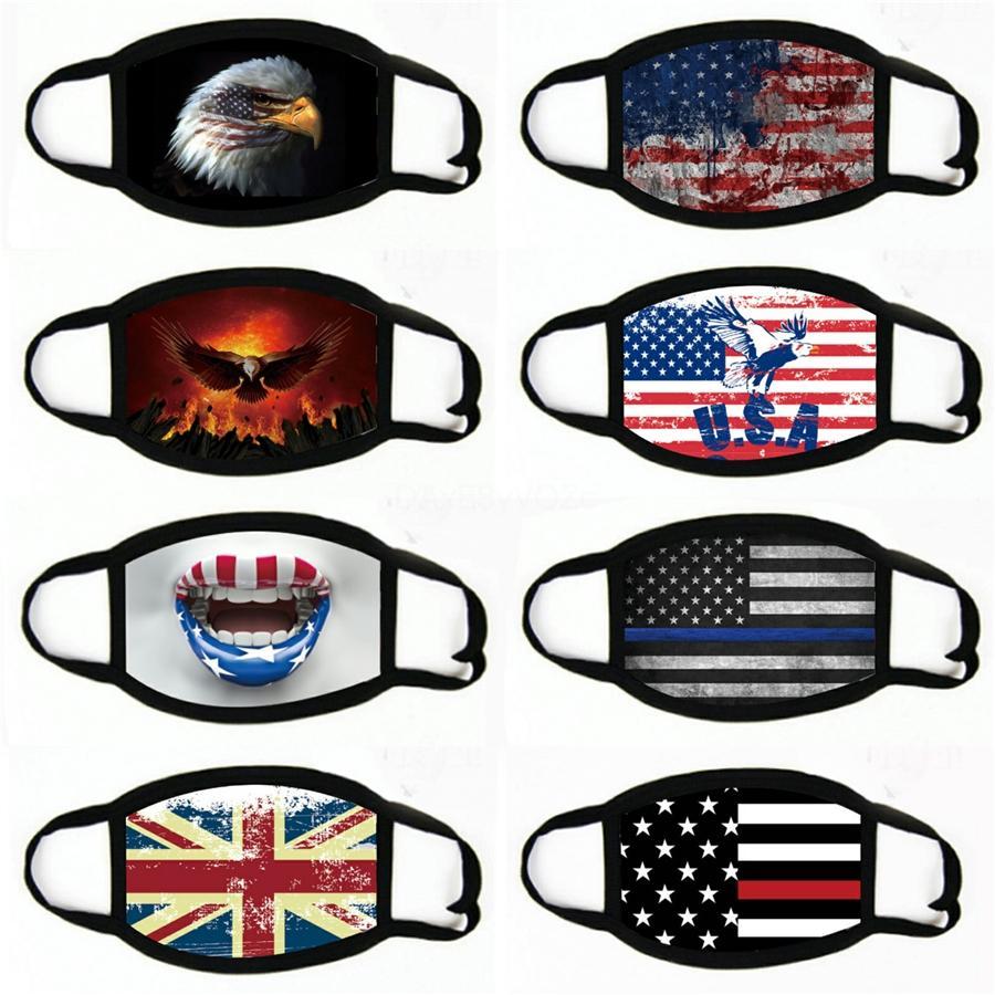 Maske 2020 US-amerikanischen Wahlen Supplies Fasion US Flag Printing Wasale Masken Replaale47 # 604