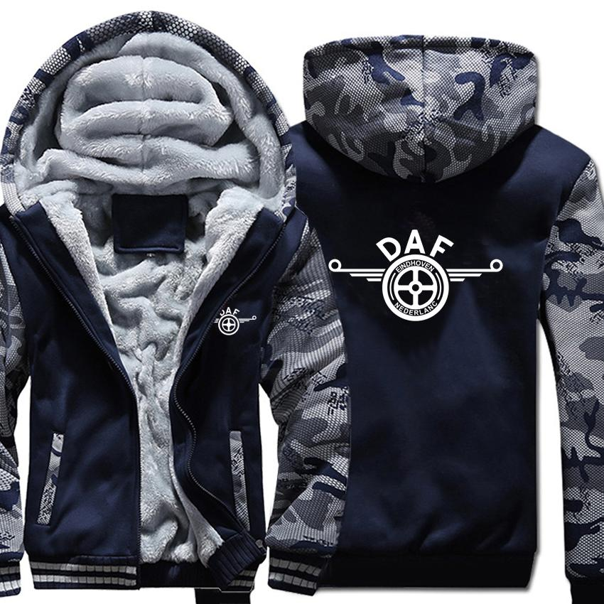 Camions Sweats à capuche camouflage Pull Veste manches longues Sweat-shirts DAF Manteau