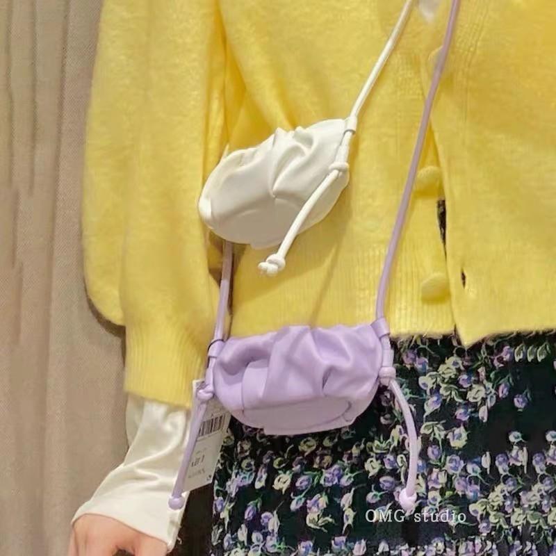 Eiter Schulter Fashion Bagnew 2020 Messenger Schulter Wolke mini nett gefalteten kleinen Beutel Frauen der koreanischen Art und Weise Beutel SUSvj