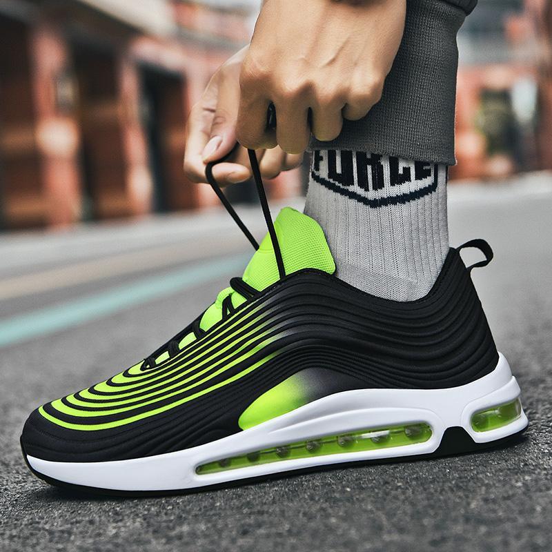 HotSellRunningShoesforMenCoupleJoggingSneakersAirSoleBreathableAirMeshLace-upOutdoorTrainingFitnessSportShoes
