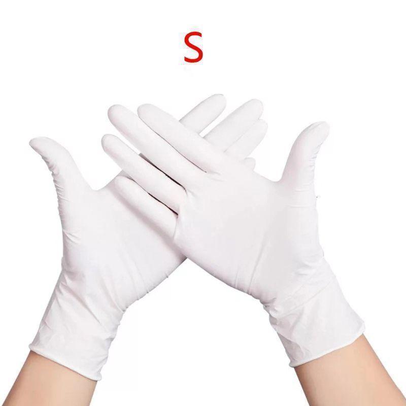 Monouso lavaggio 100pcs reale impermeabile guanti di pulizia nitrile sicurezza sul lavoro X6hb1