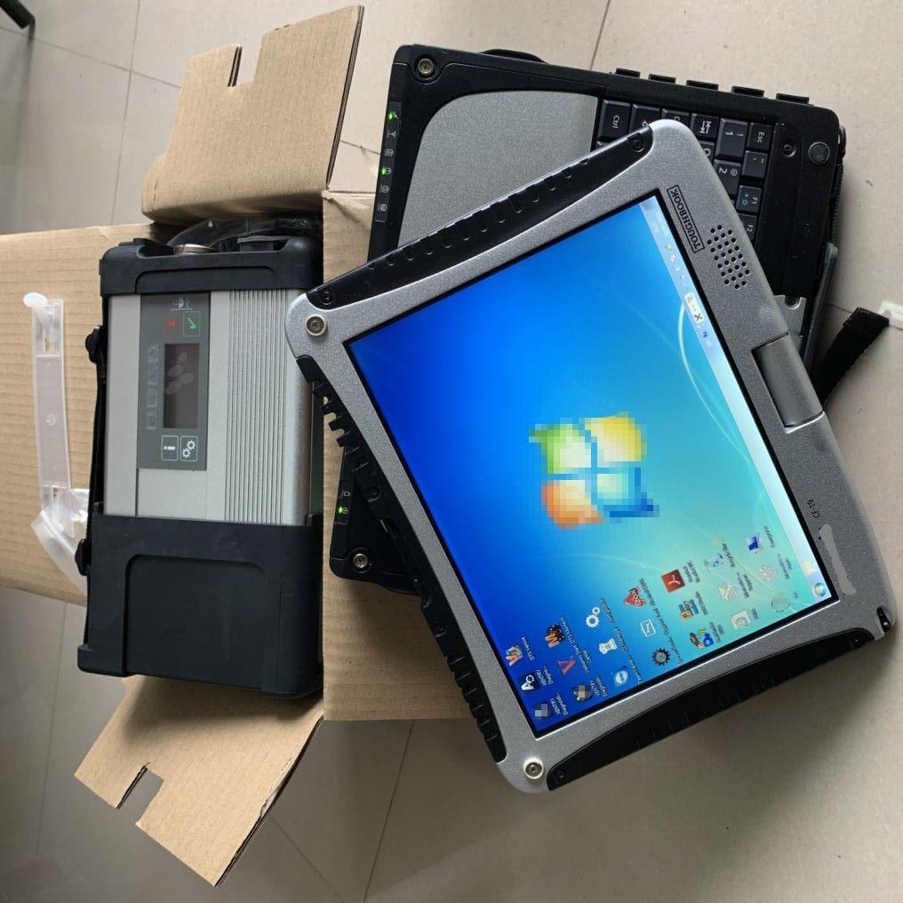 كمبيوتر محمول CF-19 + MB ستار C5 المضاعف + SD C5 HDD Soft-Ware 03 / 2021V مجموعة كاملة Win7 جاهزة للعمل لتشخيص MB C5