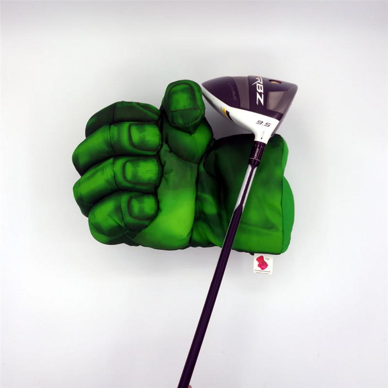 Green Hand The Fist Golf Driver Headcover 460cc Boxing Wood Golf Cover Golf Club Accessories Novelty Great Gift