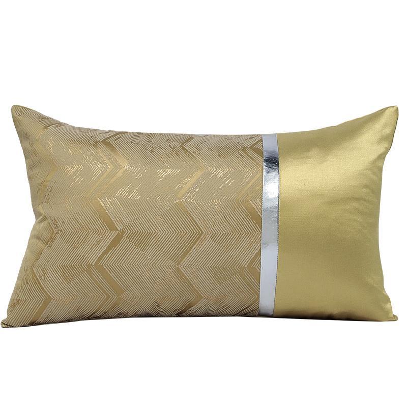 Capa sofá luxo 30x50cm cor cintura cintura cintura sala de amostra hotel almofada capa decoração ouro moderno gaoee
