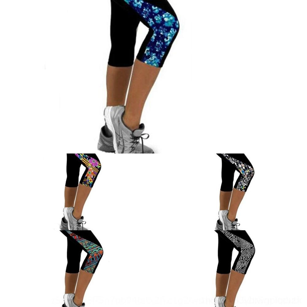 uA5mx Sell digital pants Outdoor sports tights Tight tight pants Capri outdoor sports yoga clothing women's slimming printed leggings