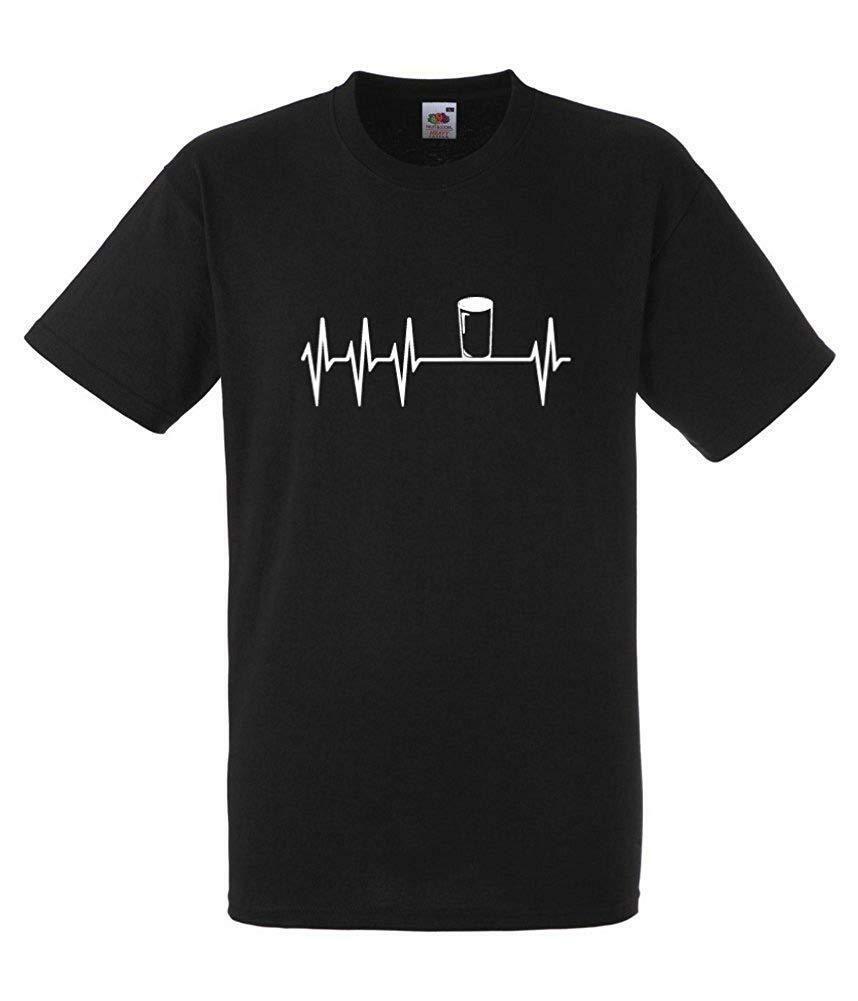 Гиннесс пинту Lifeline Black T-SHIRT Все размеры Новая мода майка Марка Hip Hop Печать Мужчины Tee Shirt Высокое качество