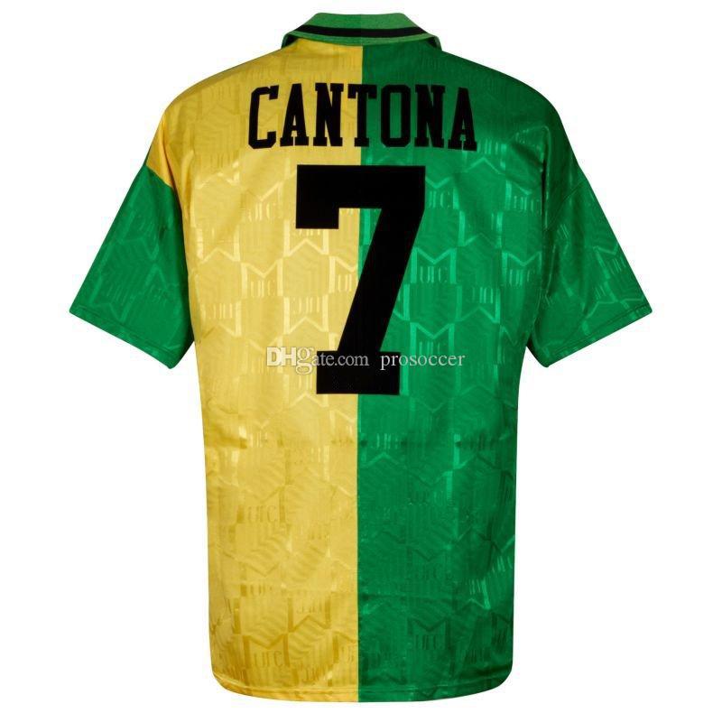 Retro Cantona Ronaldo Beckham Giggs Scholes Keane Solskjaer Cruyff Veron Van Nistelrooy Larsson Soccer Jerseys Camisa Vintage Kit