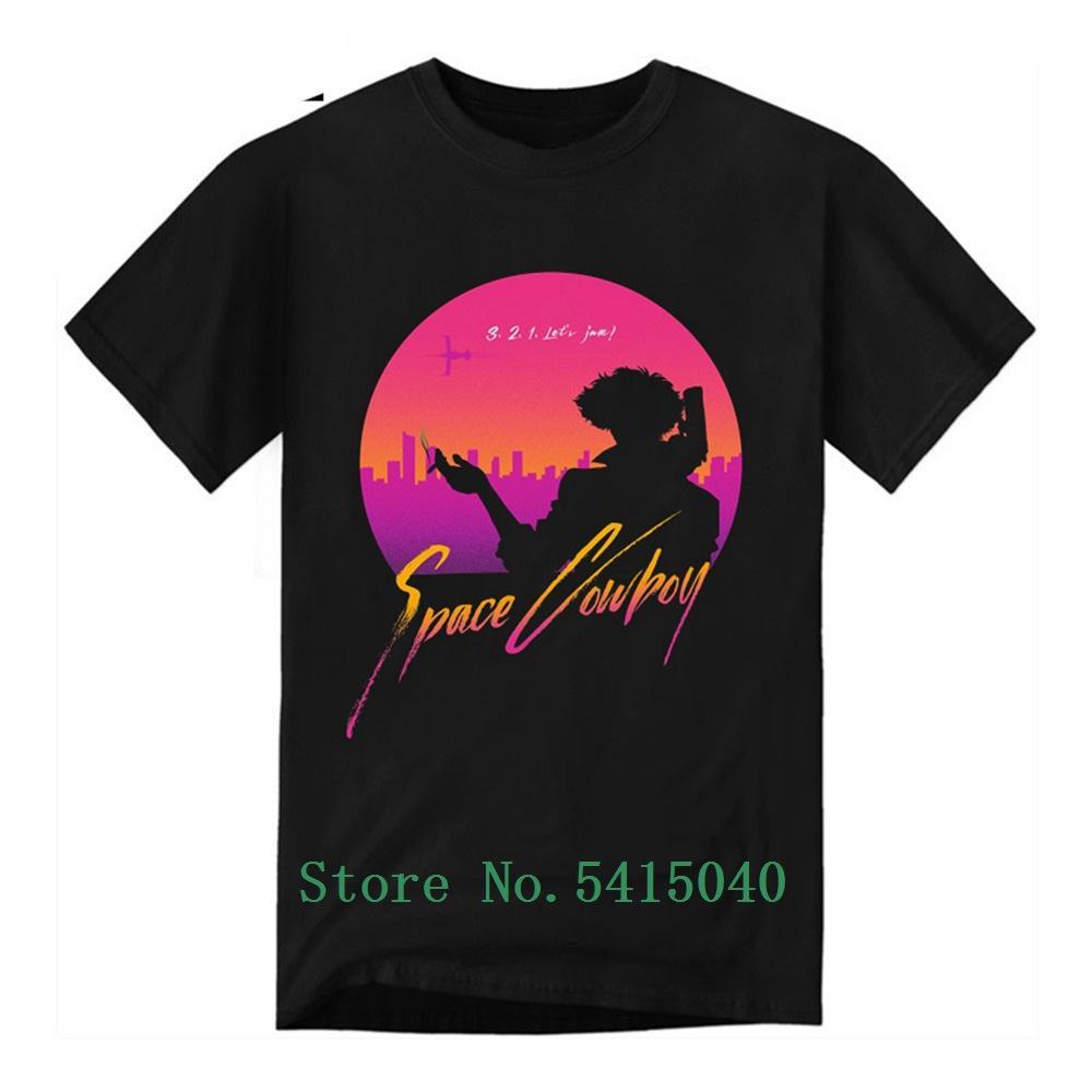 2020 Jam Lets Cowboy Bebop T-shirt d'été des hommes T-shirt 100% coton Harajuku Vêtements Hommes Anime Chemise à manches courtes