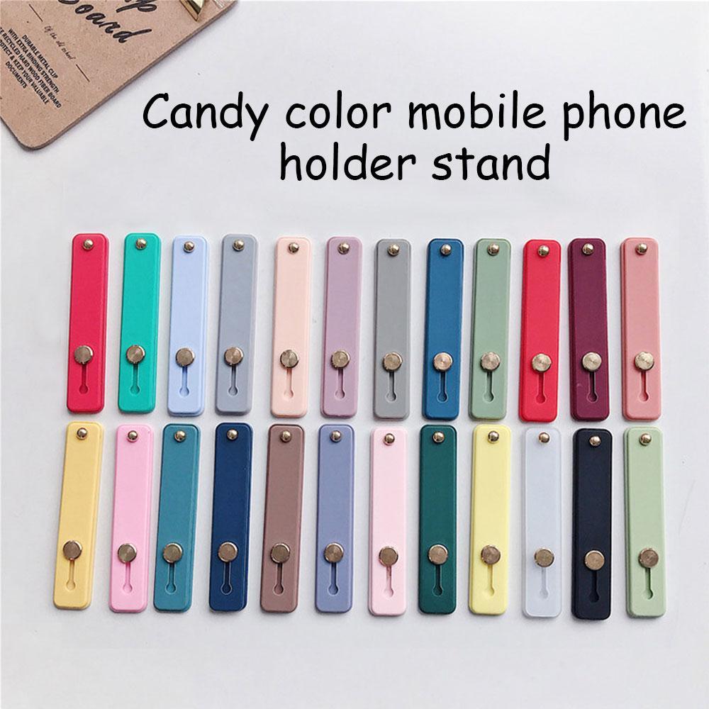 Dedo Universal doce cor anel de silicone Suporte Phone Holder para iphone 12 11 Pro Max Samsung HUAWEI Xiao Mi
