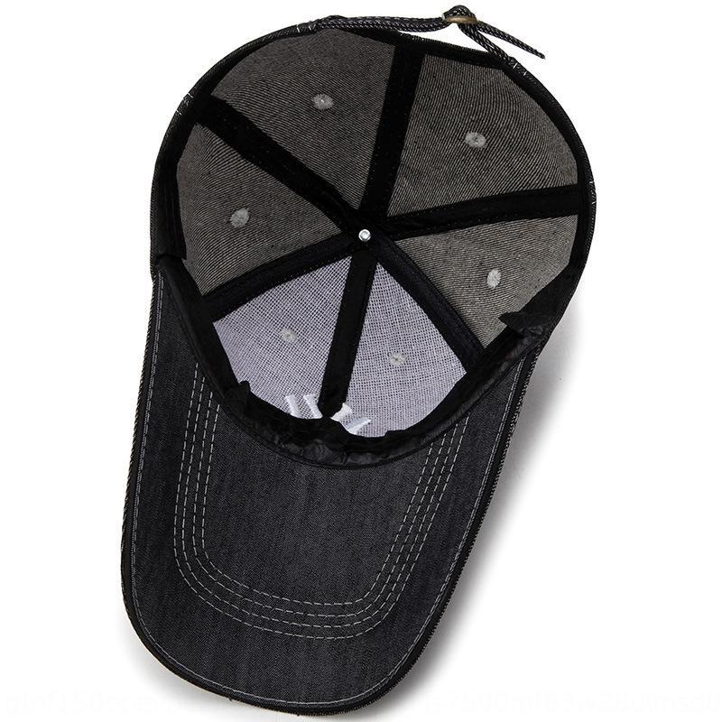 stile t81qH New coreano ricamato lettera denim bordo curvo sole dimensioni cappello berretto da baseball berretto da baseball cappello da cowboy regolabile