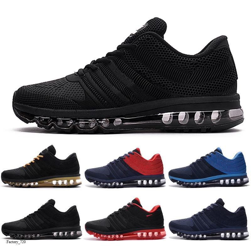 Trasporto libero in pieno palmo cuscino L'uomo in esecuzione scarpe Moda Donna Sneakers Triple Black White di alta qualità