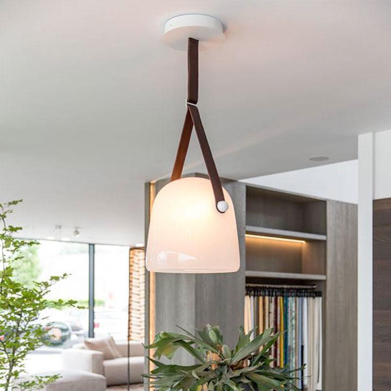 Nordic rauchig Glas Pendelleuchte Wohnzimmer Küche Leuchten moderne LED-Hängeleuchte Pendelleuchte für den Treppenbau