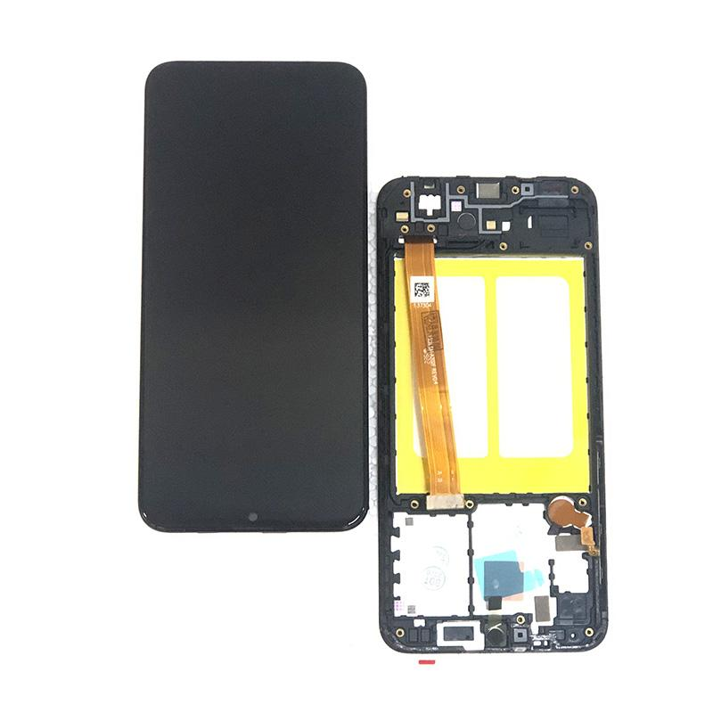 5.8 Display LCD Screen digitalizador para substituição Samsung Galaxy A20e SM-A202F A202F Com Frame Peças de montagem Preto