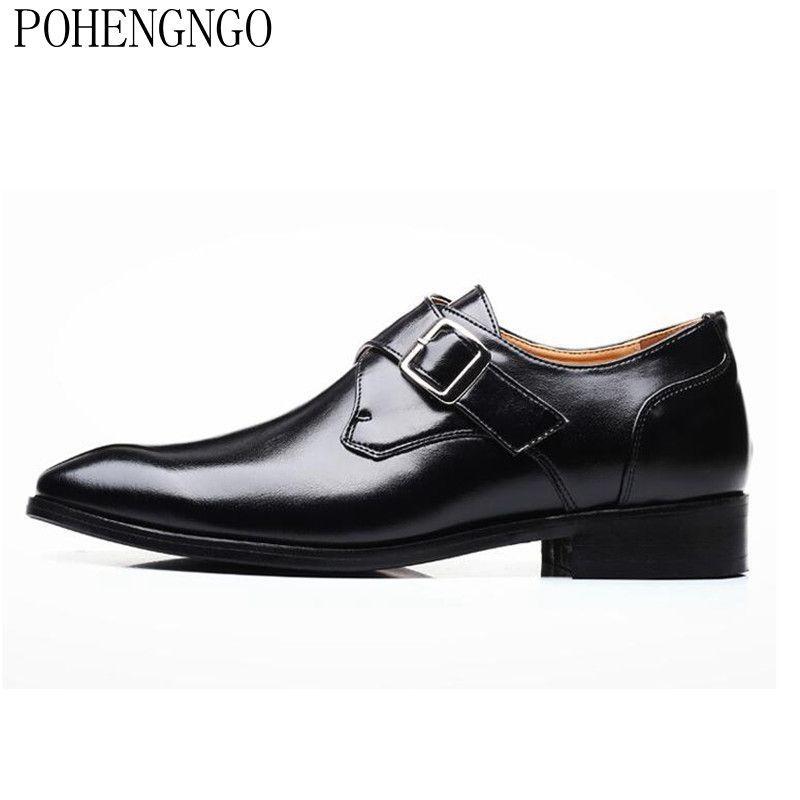 2020 de Nova Homens Marca Oxford sapatos único fivela Homens Sapatos Moda Loafers alta qualidade Casual Flats Men Tamanho 38-46