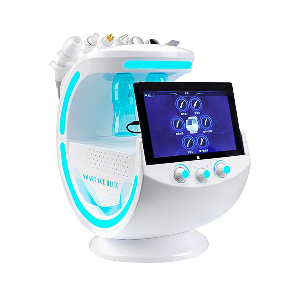 아이스 블루 매직 미러 피부 분석기 Hydrafacial 미세 박피술 얼굴 기계 피부 케어 작은 산소 수소 버블 수소화